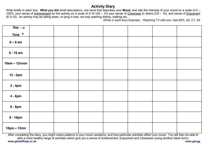 activity log templates