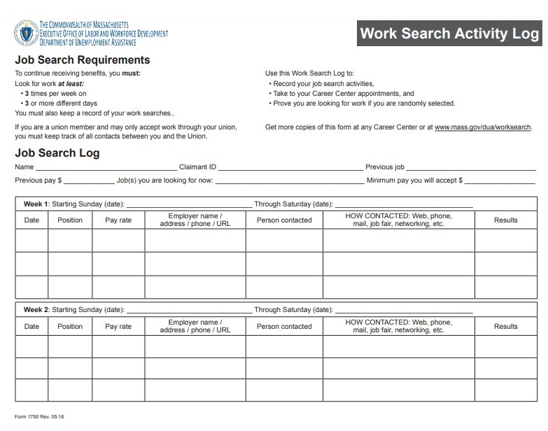 It is an image of Gutsy Printable Job Search Log