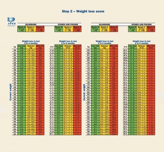 Weight Loss Score Log Template