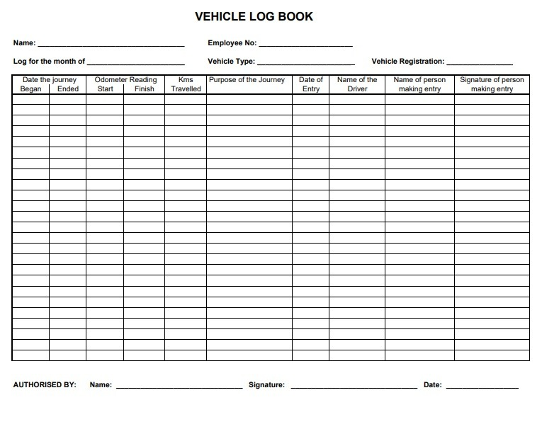 Log Book Templates | 10+ Free Printable Word, Excel & PDF ...